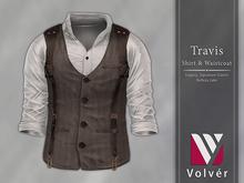 //Volver// Travis Shirt & Waistcoat - White