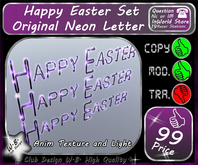 * New * Neon Letter * Happy Easter * Set *