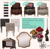 MudHoney Victoria Chair - Floral RARE