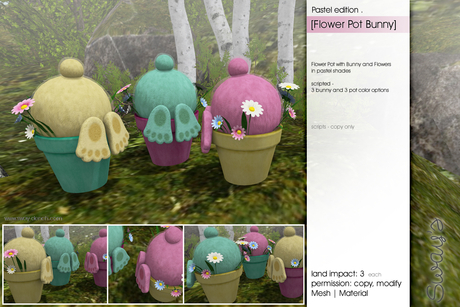 Sway's [Flower Pot Bunny] . Pastel edition
