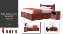 [ID] Angra Rustic Bedroom Set (Adult) - Angra Collection (BOXED)