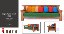 [ID] Angra Rustic Couch - Angra Collection (PG)