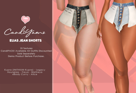 *CY* Elias .  Jean Shorts . PROMO SALE . CandiPACK! // (Add)