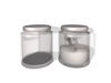 Dutchie 2 mesh glass containers with washing powder
