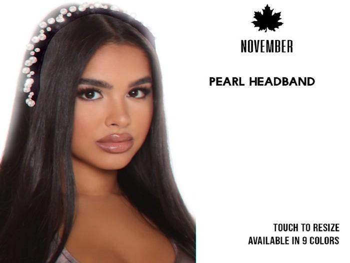 Nov- Chanti Pearl Headband (Fatpack)