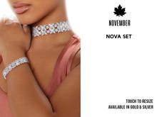 Nov-Nova Stacked Diamond Full Set