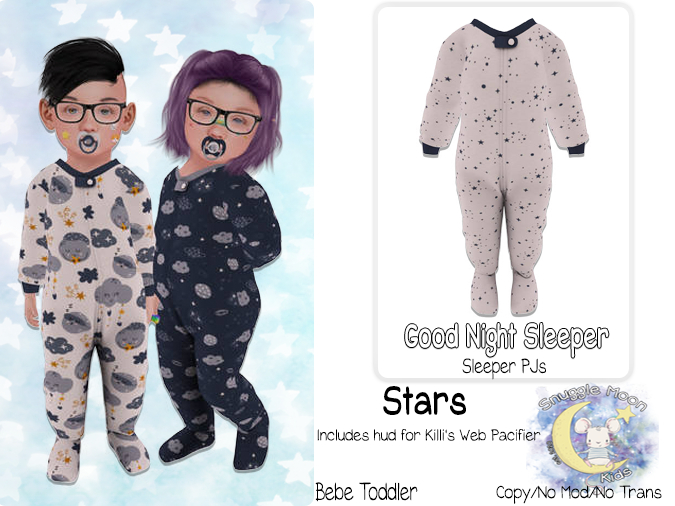 {SMK} Good Night Sleepers | Stars | Bebe Toddler