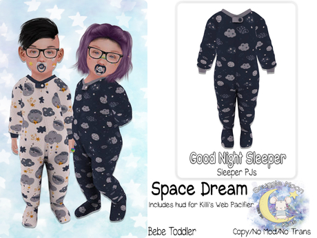 {SMK} Good Night Sleepers   Space Dream   Bebe Toddler