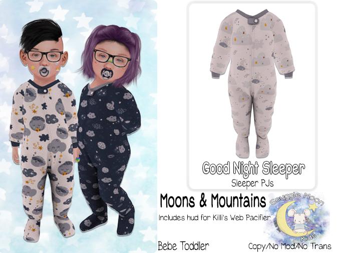 {SMK} Good Night Sleepers   Moons & Mountains   Bebe Toddler