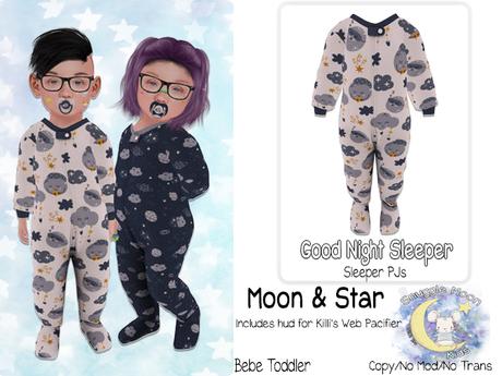 {SMK} Good Night Sleepers | Moon & Little Star | Bebe Toddler