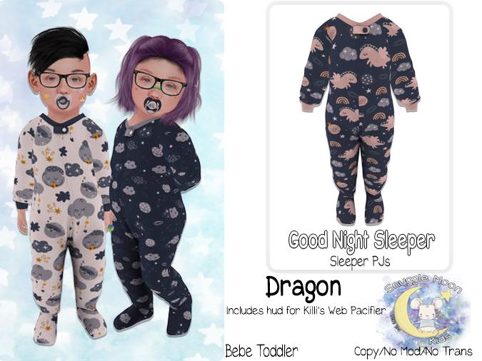 {SMK} Good Night Sleepers   Dragon   Bebe Toddler