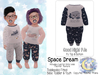 {SMK} Good Night PJs | Space Dream | Bebe Toddler & Youth + Toddleedoo Fitted