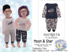 {SMK} Good Night PJs | Moon & Little Star | Bebe Toddler & Youth + Toddleedoo Fitted