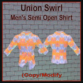Union Swirl, Men's Shirt