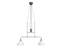 Dutchie mesh antique double ceiling lamp for above a dining table or pool billiard table