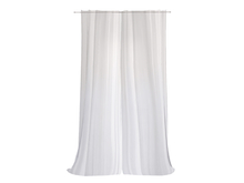 Dutchie long sheer mesh curtains, open and close with a mouseclick