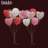 tarte. grouped heart balloons
