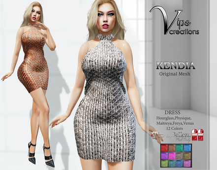 [Vips Creations] - Original Mesh Dress - [Kendia3]FITTED