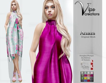 [Vips Creations] - Original Mesh Dress - [Anais-Hud]FITTED - Female Dress