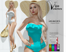 [Vips Creations] - Original Mesh Swimsuit - [Scarlet-Colors]-FITTED - Female Swimsuit