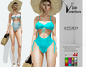 [Vips Creations] - Original Mesh Swimsuit - [Evelyn]FITTED - Female Swimsuit