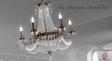MSHWORX~Phantom Chandelier Brass Tintable Crystals
