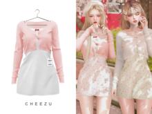 cheezu. blossom dress : peach