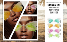 [Cinnamon Cocaine] Butterfly Glasses