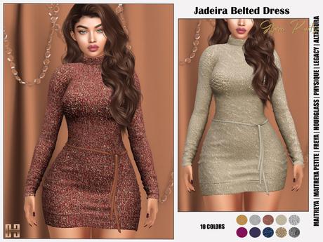 [hh] Jadeira Belted Dress GLAM KNITS