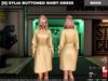 [S] Xylia Buttoned Shirt Dress Beige