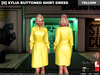 [S] Xylia Buttoned Shirt Dress Yellow