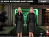 [S] Xylia Buttoned Shirt Dress Black