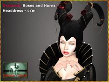 Bliensen + MaiTai - Draconia - Roses and Horns Headdress
