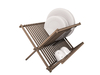 Dutchie mesh wooden dish rack with 6 plates and 2 cups