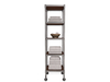 Dutchie industrial bathroom shelves with towels and soap