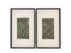 Dutchie mesh paintings 'Man and woman in green and in grey' by the Japanese artist Yo Sugano