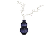 Dutchie mesh blue sixties vase with blossom branches