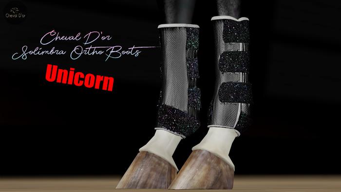 Cheval D'or / TeeglePet Unicorn / Solimbra Glittery Boots.