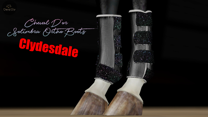 Cheval D'or / TeeglePet Clydesdale / Solimbra Glittery Boots.