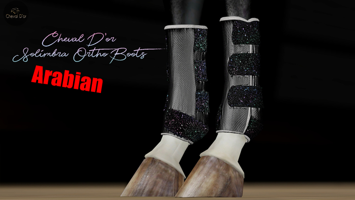 Cheval D'or / TeeglePet Arabian / Solimbra Glittery Boots.