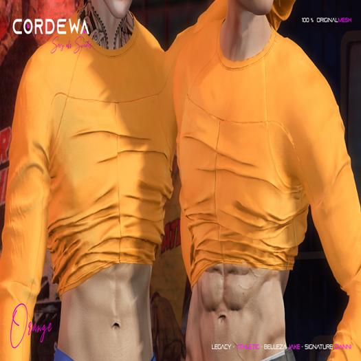 *CORDEWA* SEXY ABS SWEATER ORANGE
