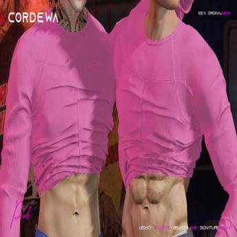 *CORDEWA* SEXY ABS SWEATER PINK