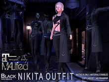 MALified - Nikita Outfit (Black): Maitreya Only
