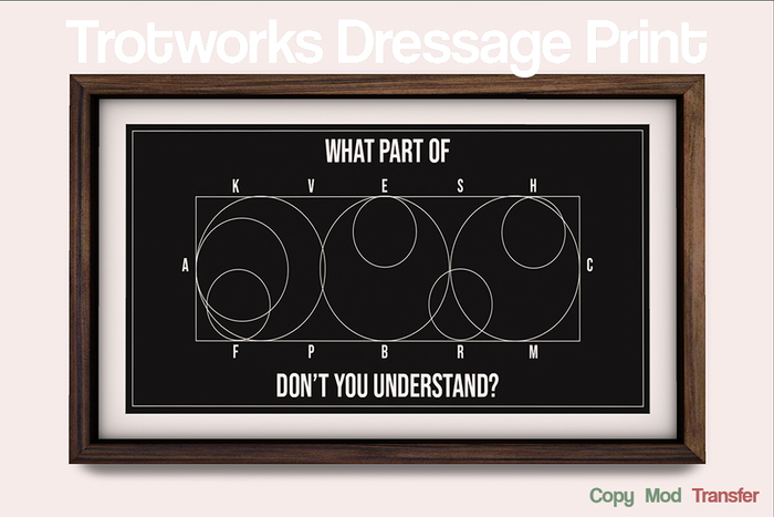 [Trotworks] Dressage Print (boxed)