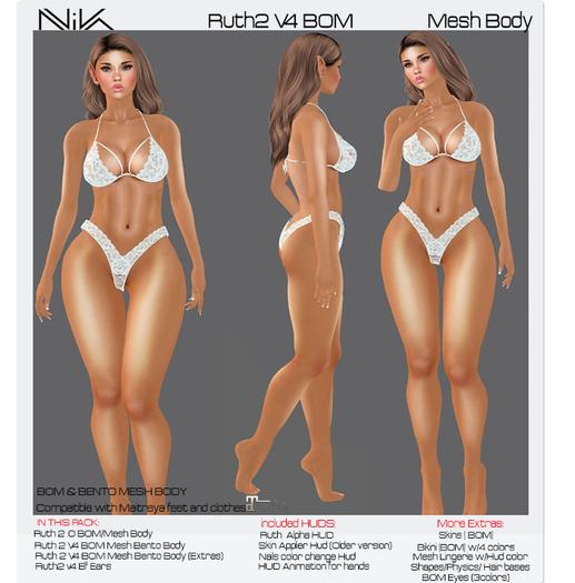 NIKA // Ruth 2 V4 BoM Bento Mesh Body