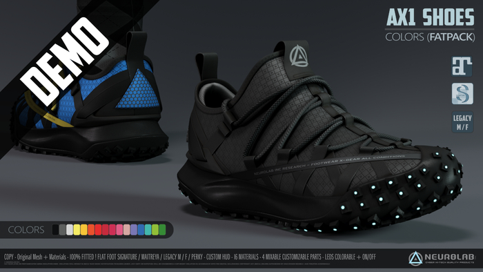 *DEMO* AX1 SNEAKERS FATPACK (FITTED) [Neurolab Inc.]