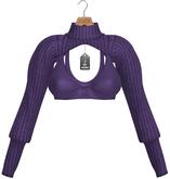 JF Design - Stella Cropped Top - Purple