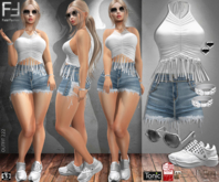 Fatal Fashion - Outfit 222: Top, Shorts, Sneakers, Bracelet, Earring, Sunglass