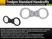 Tredpro Standard Handcuffs - Simple Handcuffs with Applier Tool for Police and Security Roleplay