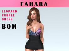 [FAHARA] Dress Leopard Purple Pink